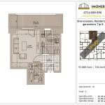 Apartamente de vanzare Brancoveanu Residence 8 -Garsoniera tip B
