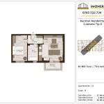 Apartamente de vanzare Burnitei Residential -2 camere tip D