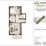 Apartamente de vanzare Burnitei Residential -2 camere tip E