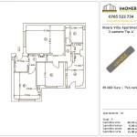 Apartamente de vanzare Ilioara Villa Apartments 2 -3 camere tip A'