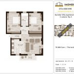 Apartamente de vanzare Titan Burnitei Villa Apartments -3 camere tip A