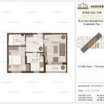 Apartamente de vanzare Burnitei Residential 1-2 camere tip I