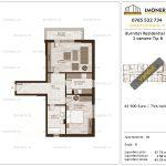 Apartamente de vanzare Burnitei Residential 2-2 camere tip B