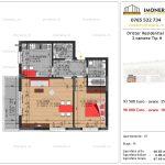Apartamente de vanzare Dristor Residential 3 -2 camere tip H