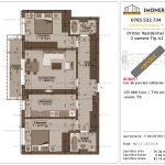 Apartamente de vanzare Dristor Residential 1 -3 camere tip A2