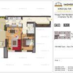 Apartamente de vanzare Timpuri Noi Residential -2 Camere tip B2 1