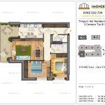 Apartamente de vanzare Timpuri Noi Residential -3 Camere tip B1 2-4