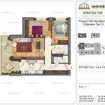 Apartamente de vanzare Timpuri Noi Residential -3 Camere tip C1 1