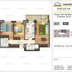 Apartamente de vanzare Timpuri Noi Residential -3 Camere tip E2 -1