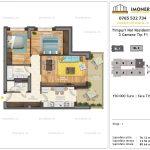 Apartamente de vanzare Timpuri Noi Residential -3 Camere tip F1 1