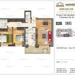 Apartamente de vanzare Timpuri Noi Residential -3 Camere tip H1 - 2-4