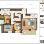 Apartamente de vanzare Timpuri Noi Residential -4 Camere tip AB1 1