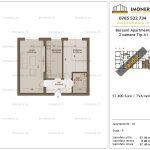 Apartamente de vanzare Berceni Apartments -2 camere tip A1