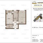 Apartamente de vanzare Berceni Apartments -2 camere tip A2