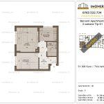 Apartamente de vanzare Berceni Apartments -2 camere tip D1
