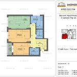 Apartamente de vanzare Berceni Apartments -3 camere tip A2
