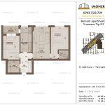 Apartamente de vanzare Berceni Apartments -3 camere tip D2