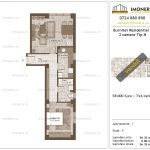 Apartamente de vanzare Burnitei Residential 3-2 camere tip M