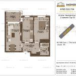 Apartamente de vanzare Dristor Residential 1 -2 camere tip D2