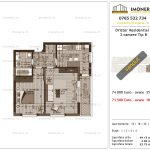 Apartamente de vanzare Dristor Residential 3 -2 camere tip B