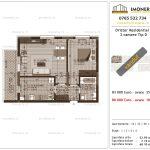 Apartamente de vanzare Dristor Residential 3 -2 camere tip D