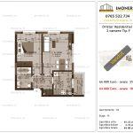 Apartamente de vanzare Dristor Residential 3 -2 camere tip F