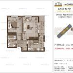 Apartamente de vanzare Dristor Residential 3 -2 camere tip C