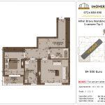 Apartamente de vanzare Mihai Bravu Residence 8 -2 camere tip C
