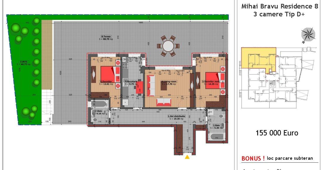 Preturi apartamente Mihai Bravu Residence 8