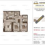 Apartamente de vanzare Dristor Residential 3 -3 camere tip C