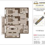 Apartamente de vanzare Mihai Bravu Residence 8 -3 camere tip C