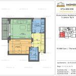 Apartamente de vanzare Brancoveanu Residence 10 -2 camere tip B