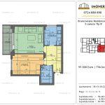 Apartamente de vanzare Brancoveanu Residence 10 -2 camere tip B'
