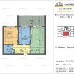 Apartamente de vanzare Brancoveanu Residence 10 -2 camere tip C