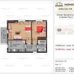 Apartamente de vanzare Dristor Residential 3 -2 camere tip G