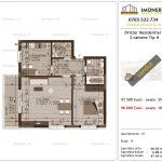 Apartamente de vanzare Dristor Residential 3 -2 camere tip H1