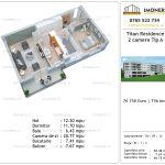 Apartamente de vanzare Titan Residence - 2 camere tip A