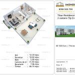 Apartamente de vanzare Titan Residence - 2 camere tip D+