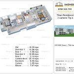 Apartamente de vanzare Titan Residence - 3 camere tip A