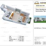 Apartamente de vanzare Titan Residence - garsoniera tip A