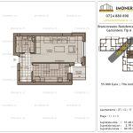 Apartamente de vanzare Brancoveanu Residence 12 -Garsoniera tip A