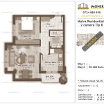 Apartamente de vanzare Titan - Malva Residential 1 -2 camere tip B