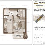 Apartamente de vanzare Titan - Malva Residential 1 - garsoniera tip A