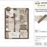 Apartamente de vanzare Titan - Malva Residential 1 - garsoniera tip B