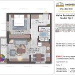Apartamente de vanzare Titan - Malva Residential 1 -studio tip C