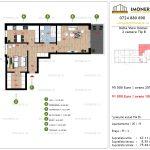 Apartamente de vanzare Delta View Homes-2 camere tip B