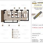 Apartamente de vanzare Delta View Homes-2 camere tip D'