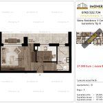 Apartamente de vanzare Siena Residence 3-Corp 1-Garsoniera tip B