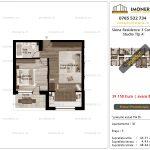Apartamente de vanzare Siena Residence 3-Corp 1-Studio tip A'