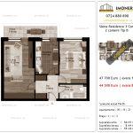 Apartamente de vanzare Siena Residence 3-Corp 2-2 camere tip B